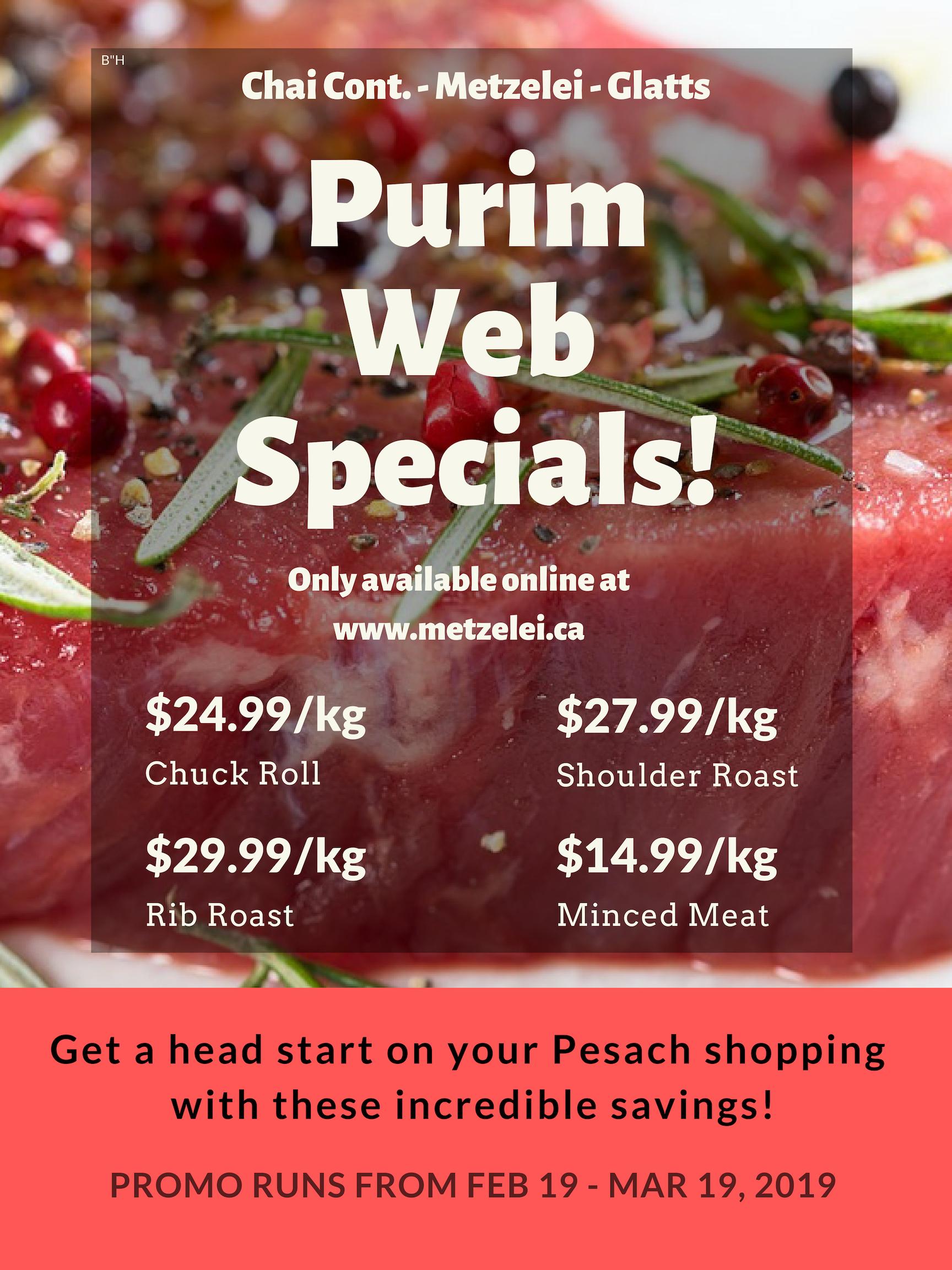 Purim Specials